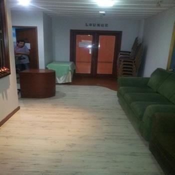 karpet vinyl motif kayu - projek